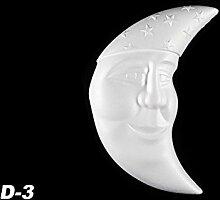 1 Dekorelement Innendekor Kinderzimmer Dekoration Mond Stuck 310x200mm, D-3