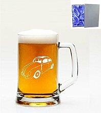 1Englisch Pint Glas Bierkrug mit Volkswagen