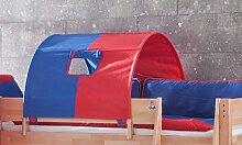 1-er Tunnel Spieltunnel für natur Hochbetten Blau/Ro