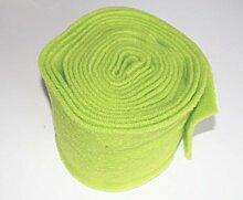 1 Euro/m > 5 Meter Topfband Wolle hellgrün Wollband Topfummantelung Vlies Wollvlies 15cm breit Blumentöpfe gestalten Gartendeko grün apfelgrün Vintage Nostalgie Dekoband