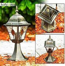 1-flammige Sockelleuchte Antibes aus Aluguss in braun-gold - Aussenleuchte für den Garten oder die Terrasse