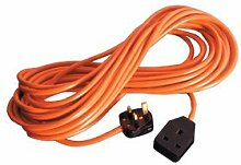 1 Gang Orange Extension Lead 13 Amp 15m by Sunncamp