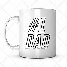 1 Geschenk-Idee für Väter, Kaffeetasse, Zitate,