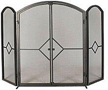 1. GO Kaminschutzgitter mit Türen, 80 x 49 cm (H