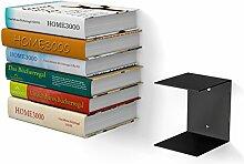 1 GROßES schwarzes unsichtbares Bücherregal mit