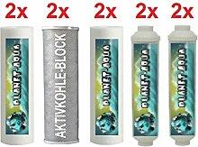 1 Jahr Ersatzfilter Set für 6 Stufen Wasserfilter Umkehrosmose Osmoseanlage Filter Kartuschen 10 Zoll für Wasser Aquarium Fische Trinkwasser Osmose 6 x Filtereinsatz und 4 Inline Patronen