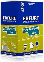 1 Karton mit 12 Rollen Erfurt Rauhfaser Raufaser