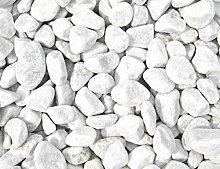 1 kg Carrara Kies - Marmorkies weiß - Körnung 40 - 60 mm