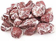 1kg Deko Abgerundete Marmor rot Steine Pebble