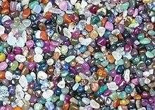 1 kg Trommelsteine, bunte Mischung aus Brasilien, Größe ca. 10 - 20 mm