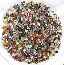 1 kg Trommelsteine mini, bunte Mischung indischer Steine, Größe ca. 3 - 10 mm