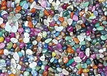 1 kg Trommelsteine mini, bunte Mischung Steine Brasilien, Größe ca. 7 - 17 mm
