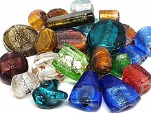 1 Kilo, Glasperlen Mix Glas Perlen Nur Silberfolie