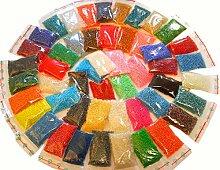 1 Kilo Rocailles 3mm 50 Pack 50 Farben Glas PERLEN