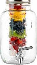 1 Liter Glas Getränkespender mit Eis und