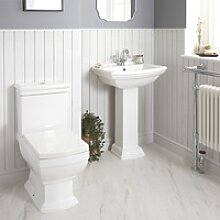 1-Loch Stand-Waschbecken mit Säule und