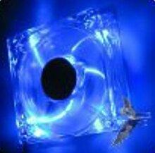 1 Lüfter Ventilator - MEGAKLICK - blau beleuchtet - 12 Volt 80x80 mm - DC