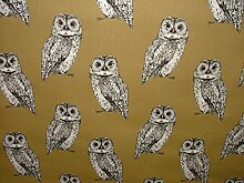 1m Prestigious Textiles Eule Tawny Baumwolle
