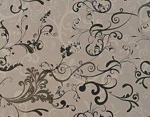 1m Stück PVC/Vinyl Tischdecke–grau Fleur