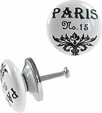 1 Möbelknopf, Möbelgriff, Möbelknopf, Knauf Keramik 37 mm, Paris No. 15 #0160