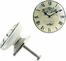 1 Möbelknopf, Möbelgriff, Möbelknopf, Knauf Keramik 37 mm, Time #0209