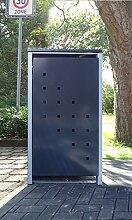 1 Mülltonnenbox Modell No.3 Anthrazitgrau für