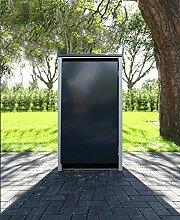 1 Mülltonnenbox ohne Stanzung Anthrazitgrau für