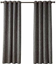 1 Paar Coarse Leinen Lichtdurchlässigkeit 90% Schirm Fenster Vorhang Schirm , 1 , 52*63in