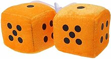 1 Paar Fuzzy Dice Dots Rückspiegel Kleiderbügel