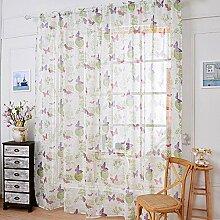 1 Paar Leinen Tuch Licht Transmission 70% Schatten Fenster Vorhang Schirm , 145*150cm