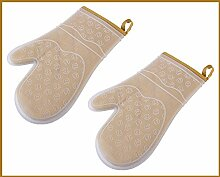 1 Paar Silikon Backhandschuh Ofenhandschuh Grillhandschuh Grill Glove