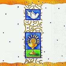 1 Päckchen Motiv-Servietten Kommunion/Konfirmation - v.versch. Motive z. Auswahl (Paper+Design Peace)