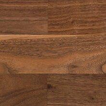 1 Paket (1,78 m²) Hochwertiger Parkettboden - Fertigparkett - Schiffsboden 3 Stab - Nussbaum