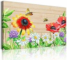 1 Paneel Bauernhaus Wanddekoration bunte Blüten