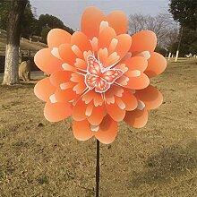1PCS 3D Wind Spinner Yard, Tiere Schmetterling