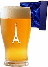 1Pint Tulip Bier Glas mit Eiffelturm Design