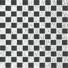 1 qm Glas Mosaik Wand Fliesen Matte Schachbrett