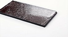 1 qm Glas Wand Fliese Grau mit schimmer folie