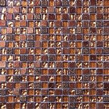 1 Qm Matte Glas und Stein Mosaik Fliesen in gold