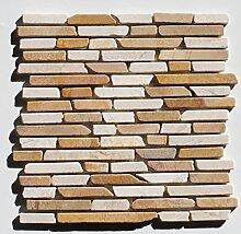 1 qm ST-1-436 Marmor Naturstein Stab Mosaikfliesen