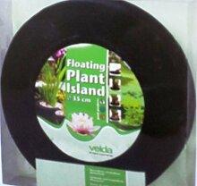 1 runde Pflanzeninsel 25 cm Durchmesser für den Gartenteich + 5 lose Sumpflanzen