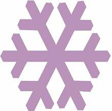 1 Schneeflocke-Aufkleber zur Dekoration von Wänden, Glasprodukten, Fliesen und allen anderen glatten Oberflächen