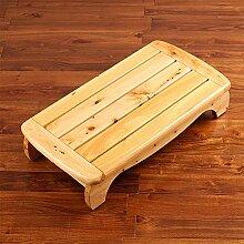 1 Schritt Hocker Bett Fußhocker Massivholz