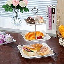 1Set 6Farben Kuchen Teller Ständer 2oder 3Etagen Beschläge Mitte Griff Armatur Hardware Rod, 2 tie silver, 1.5 cm