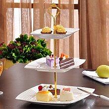 1Set 6Farben Kuchen Teller Ständer 2oder 3Etagen Beschläge Mitte Griff Armatur Hardware Rod, 2 tie gold, 1.5 cm