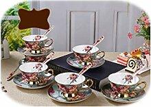 1 Set Keramik Tassen und Untertassen