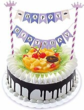 1Set Wimpelkette Happy Birthday Cupcake Topper