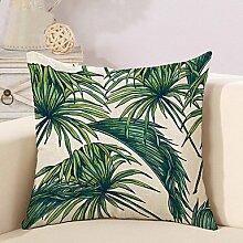 1 Stk. Leinen tropische Pflanze drucken Kissen Cover Case