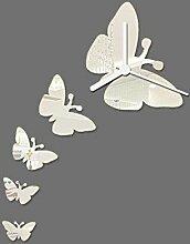 1 Stk Mode Butterfly Clock DIY Spiegel Wandspiegel