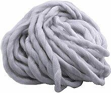 1 Strang Dicken Sperrige Klobig aus Weicher Baumwolle Superfine Faser Garn Hand Stricken Häkeln Weben Teppich Machen Baumwollgarn Grau